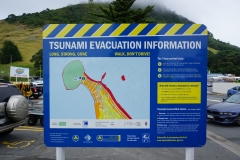 Tsunami signs all over Mount Maunganui