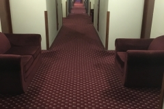 Stinky hotel hallway