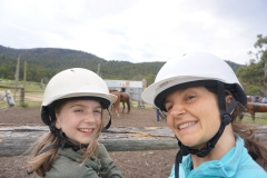 Jaida and Michele horseback riding