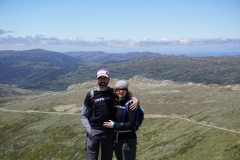 Christian and Michele at the top of Australia