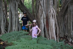 Jaida and Blake under the banyon tree