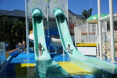 Jaida and Blake on the water slides