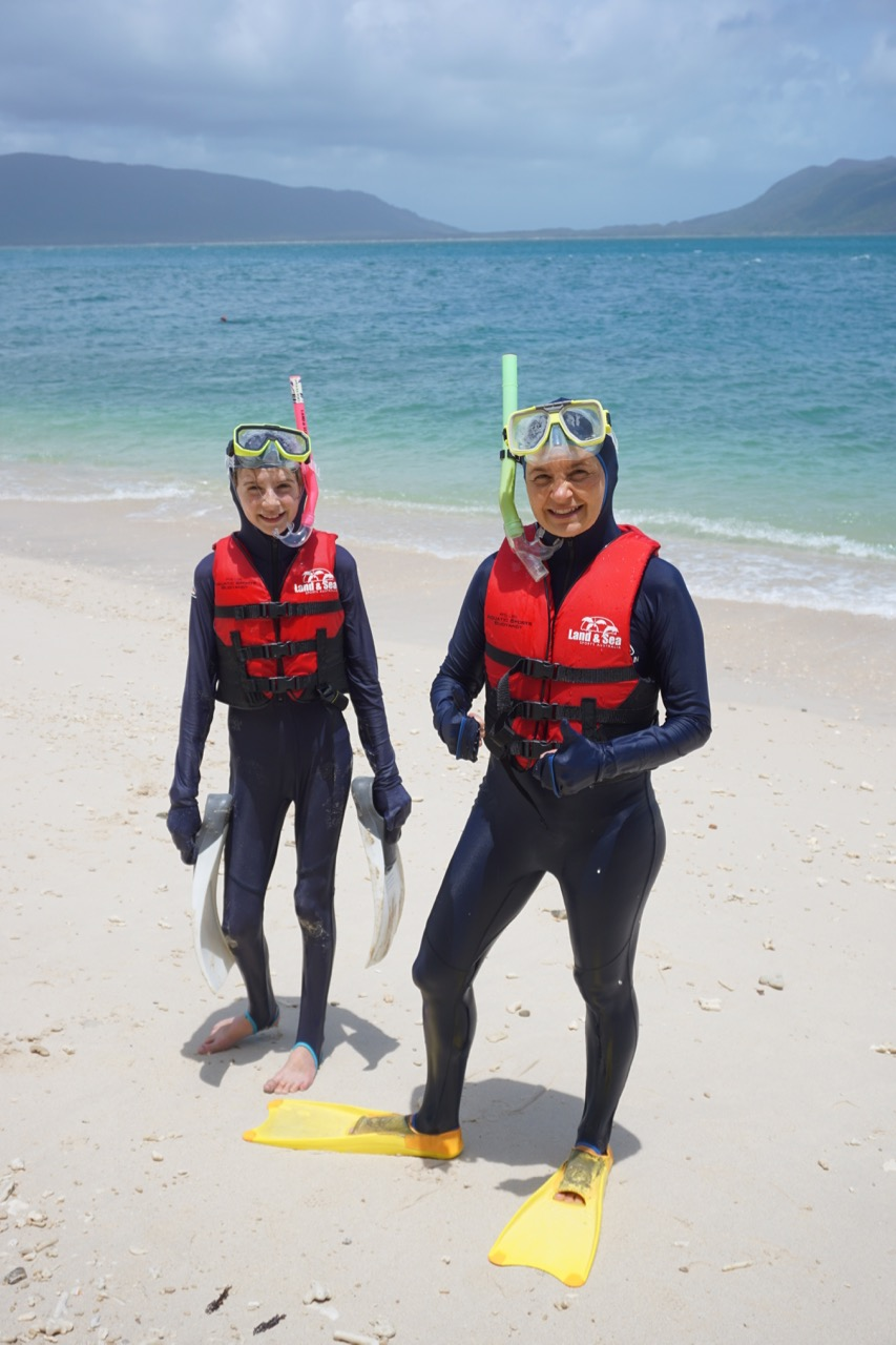Jaida and Michele ready to snorkel