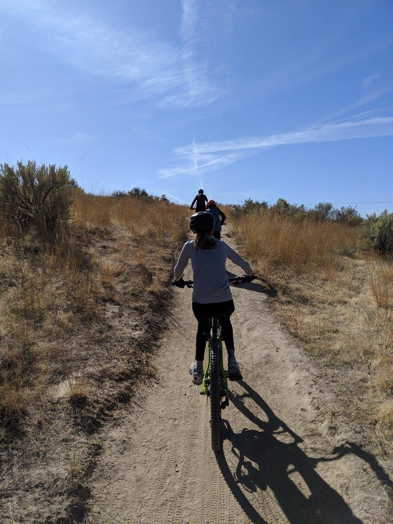 Boise-Jaida-Blake-Christian-riding-up-hill
