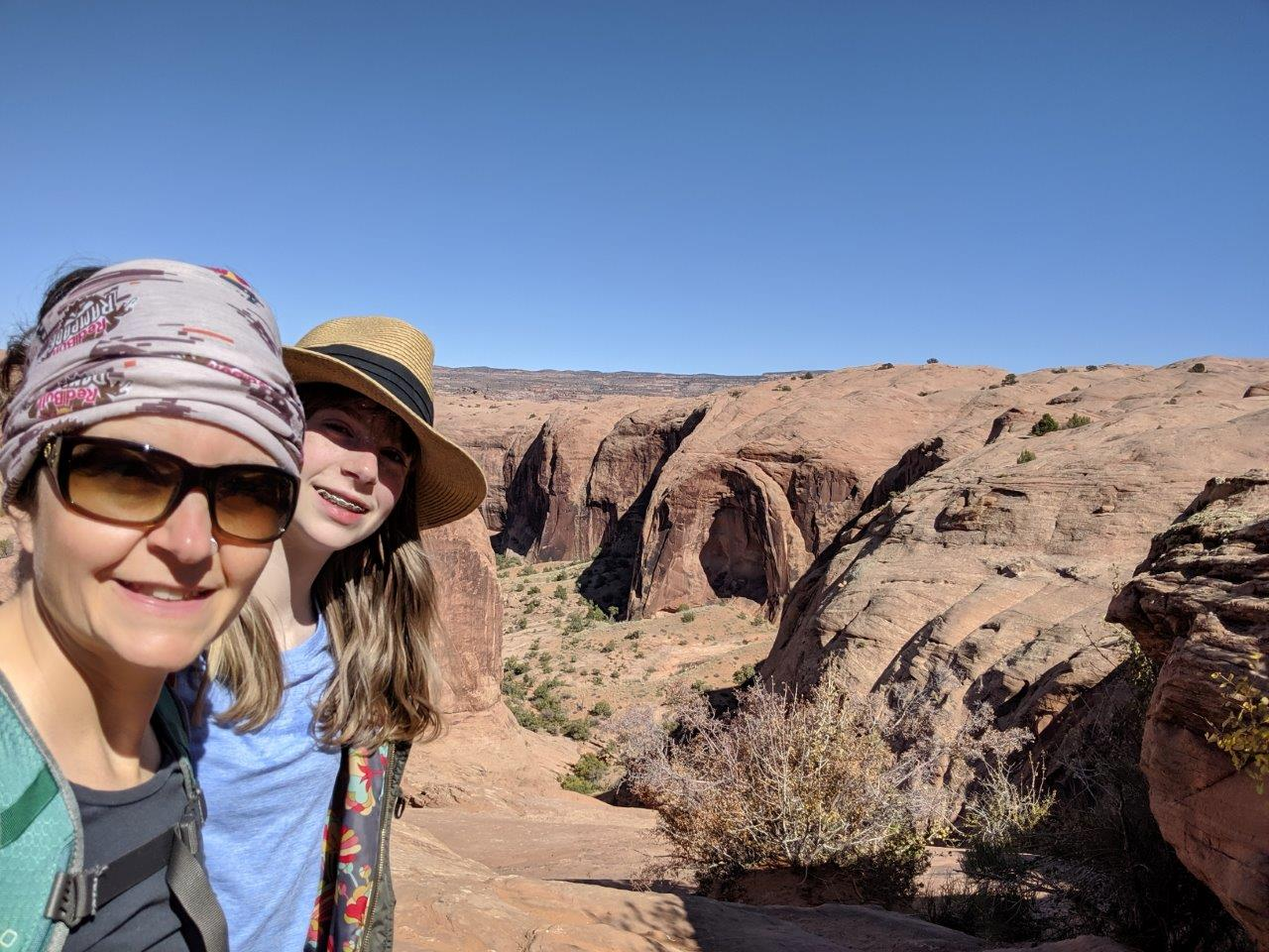Moab-Slick-rock-hike-Michele-and-Jaida