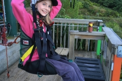 Jaida on her first zipline