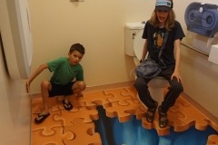 Puzzling world bathroom
