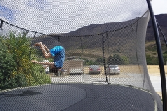 Blake's front flips in Wanaka camp site