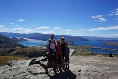 Family at the top of Wanaka