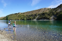 Skipping rocks in the Clutha river