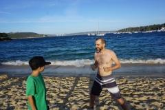 Blake and Christian on Balmoral beach