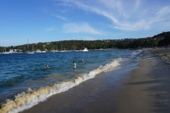 Christian and Blake swimming in Balmoral beach
