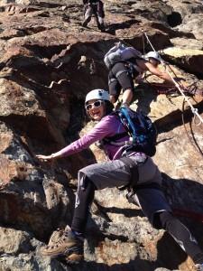 climbing Whistler Via Ferrata