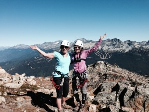 top of the Via Ferrata Whistler