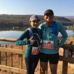 Michele and Kyla before the big-five half marathon