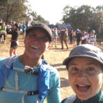 Kyla and Michele at the start line of the big-five marathon