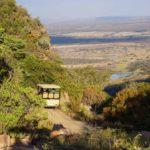 Entabeni driving down to the lower escarpment