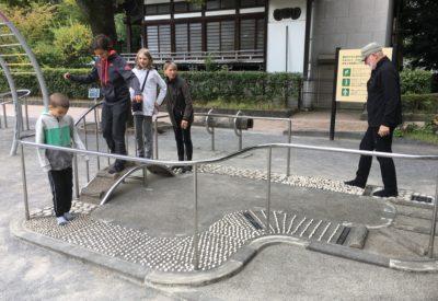 Walking the Kenko Komichi park in Tokyo