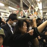 Packed Subway in Tokyo